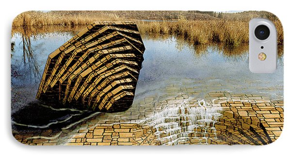 IPhone Case featuring the painting Drain - Mendon Ponds by Peter J Sucy