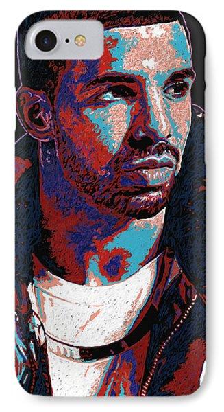 Drake IPhone Case by Maria Arango