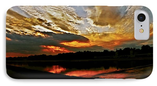 Drama In The Sky At The Sunset Hour IPhone Case by Carol F Austin