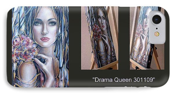 IPhone Case featuring the painting Drama Queen 301109 by Selena Boron