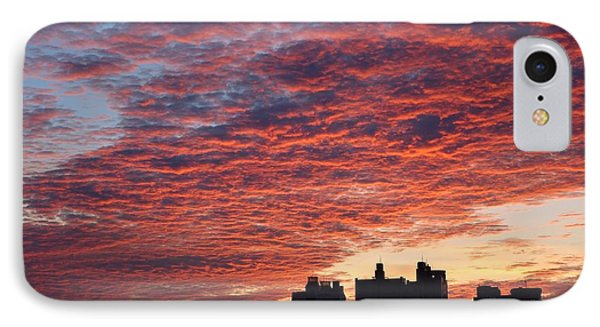IPhone Case featuring the photograph Dramatic City Sunrise by Yali Shi