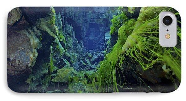 Dramatic Fluorescent Green Algae Phone Case by Mathieu Meur
