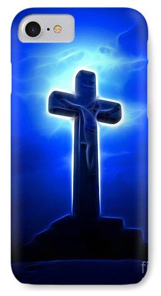 Dramatic Jesus Crucifixion Phone Case by Pamela Johnson