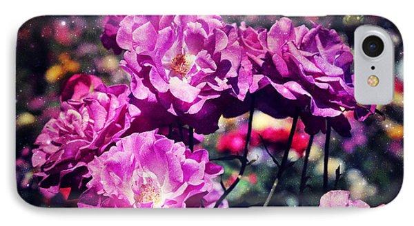 Dramatic Mauve Roses IPhone Case
