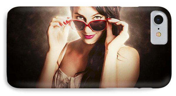 Dramatic Pin Up Fashion Photograph IPhone Case