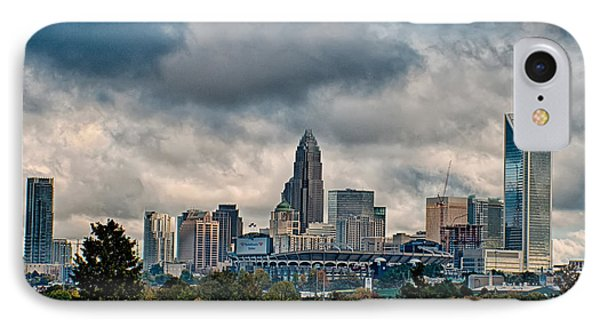 Dramatic Sky And Clouds Over Charlotte North Carolina IPhone Case by Alex Grichenko