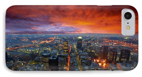 Dramatic Sky Over City Streets IPhone Case by Caio Caldas