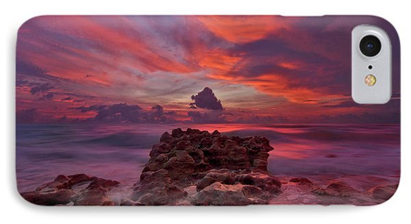 Dramatic Sunrise Over Coral Cove Beach In Jupiter Florida IPhone Case by Justin Kelefas