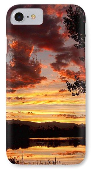 Dramatic Sunset Reflection IPhone Case
