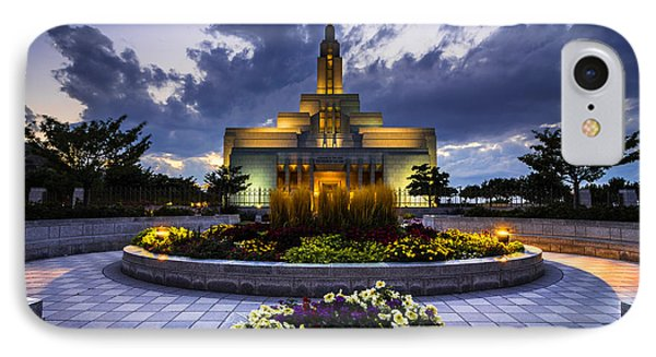 Draper Mormon Lds Temple - Utah IPhone Case by Gary Whitton