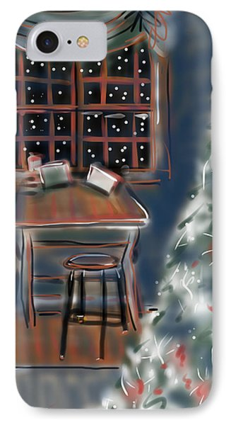 Drawing Board At Christmas IPhone Case by Jean Pacheco Ravinski