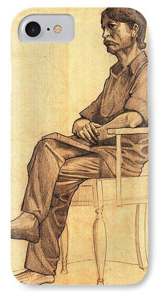 Drawing..chiman IPhone Case by Makarand Joshi