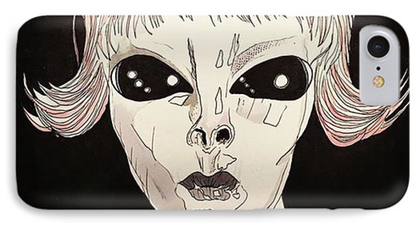 iPhone 7 Case - She Came From Planet Claire by Russell Boyle