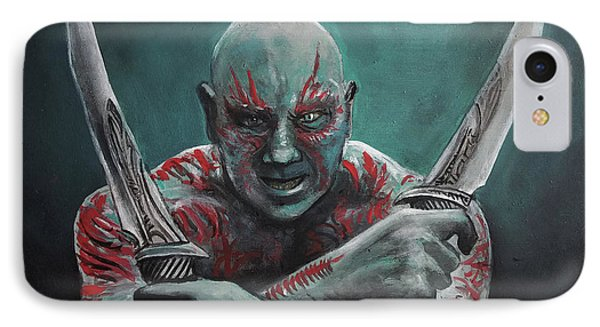 Drax The Destroyer IPhone Case by Tom Carlton