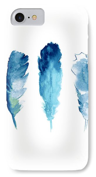 Dream Catcher Feathers Painting IPhone Case by Joanna Szmerdt