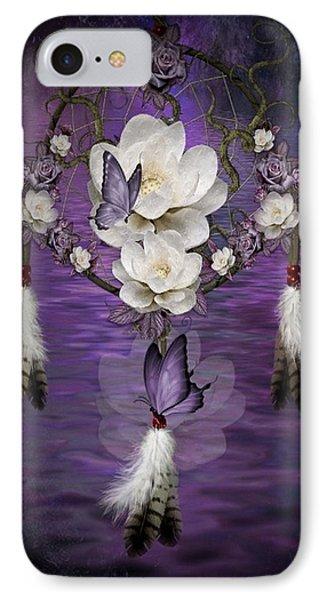 Dream Catcher Purple Flowers IPhone Case