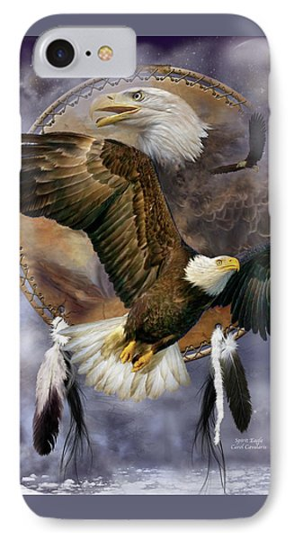 Dream Catcher - Spirit Eagle IPhone Case by Carol Cavalaris