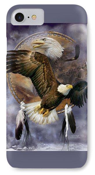 Dream Catcher - Spirit Eagle IPhone 7 Case by Carol Cavalaris