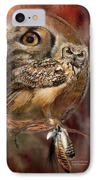 Dream Catcher - Spirit Of The Owl Phone Case by Carol Cavalaris