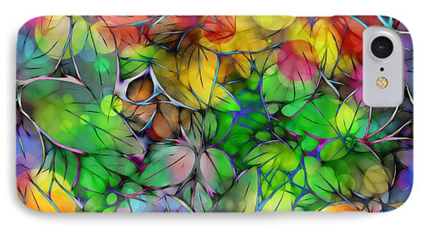 IPhone Case featuring the digital art Dream Colored Leaves by Klara Acel