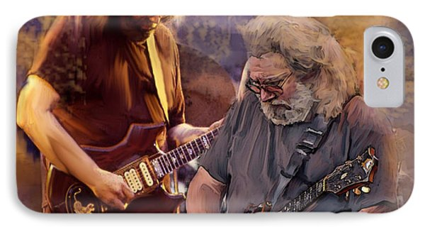 Dream Colors  Jerry Garcia Greatful Dead IPhone Case by Iconic Images Art Gallery David Pucciarelli