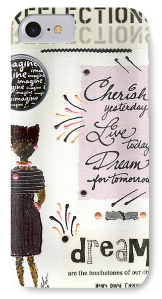 IPhone Case featuring the mixed media Dream For Tomorrow by Angela L Walker
