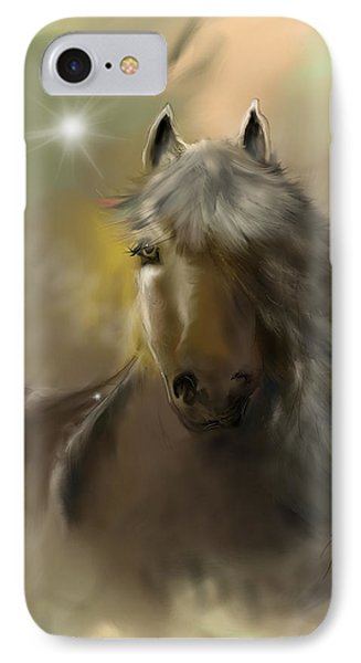 IPhone Case featuring the digital art Dream Horse by Darren Cannell