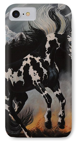 Dream Horse Series 12 - When Night Fall's IPhone Case by Cheryl Poland