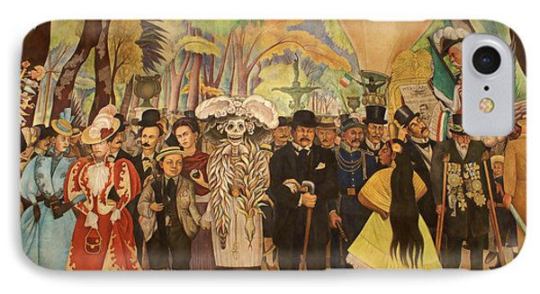 Dream In The Alameda Diego Rivera Mexico City Phone Case by John  Mitchell