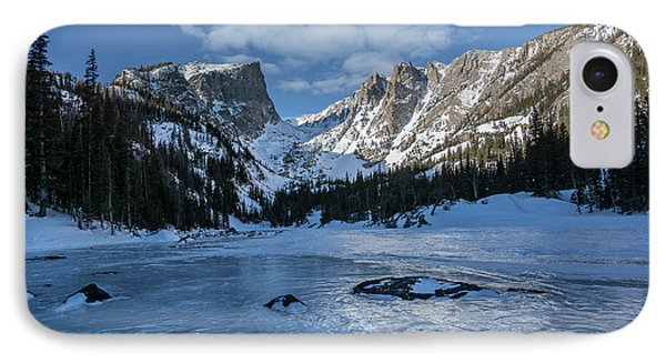 IPhone Case featuring the photograph Dream Lake Morning by Aaron Spong