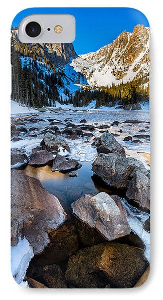Dream Lake Sunrise IPhone Case by Andres Leon