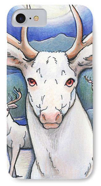 Dream Of The White Stag Phone Case by Amy S Turner