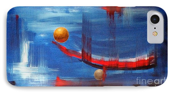 IPhone Case featuring the painting Dream Ship by Arturas Slapsys