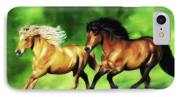 IPhone Case featuring the painting Dream Team by Shari Nees