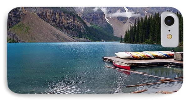 Moraine Lake, Ab  IPhone Case by Heather Vopni