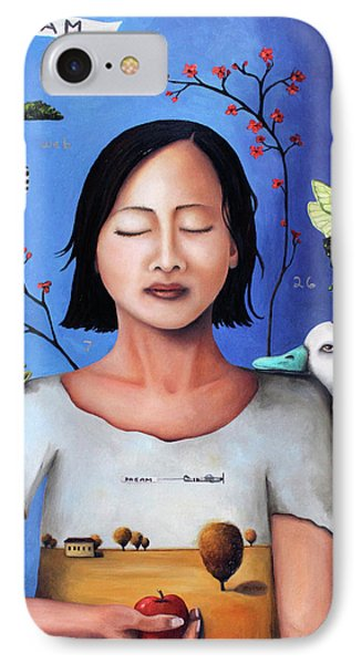 Dream Within A Dream 3 Phone Case by Leah Saulnier The Painting Maniac