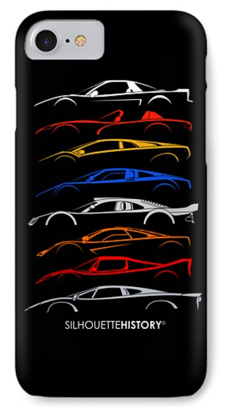 Viper iPhone 7 Case - Dreamcars Of 90s Silhouettehistory by Gabor Vida