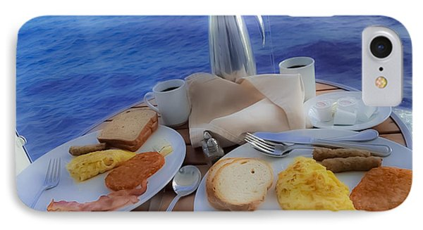 Dreaming Of Breakfast At Sea IPhone Case by DigiArt Diaries by Vicky B Fuller