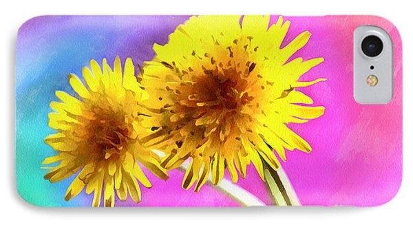 Dreaming Of Dandelions IPhone Case by Krissy Katsimbras