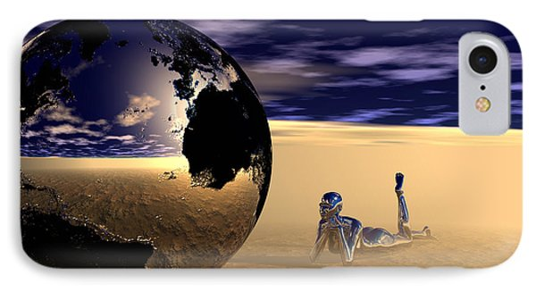 Dreaming Of Other Worlds IPhone Case by Sandra Bauser Digital Art