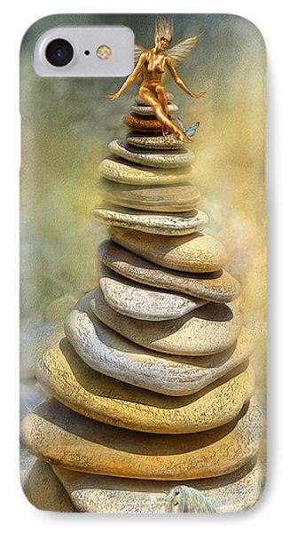 Fairy iPhone 7 Case - Dreaming Stones by Carol Cavalaris