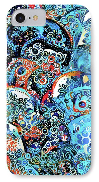 Dreams In Blue Ornamental Abstract Woman IPhone Case