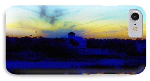 Dreamscape Blue Water Sunset  Phone Case by Nada Frazier