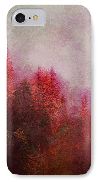 IPhone Case featuring the digital art Dreamy Autumn Forest by Klara Acel