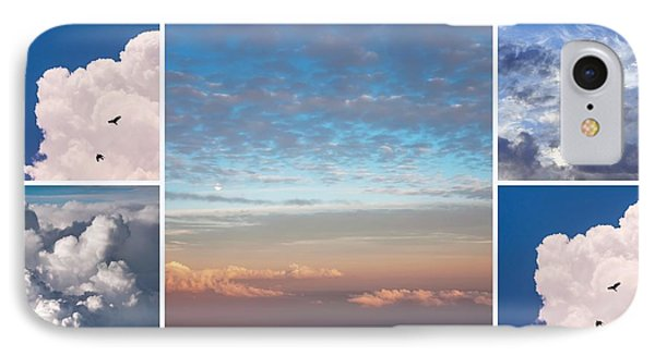 IPhone Case featuring the photograph Dreamy Clouds Collage by Jenny Rainbow