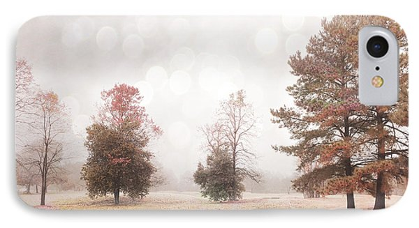 Dreamy Ethereal Serene Peaceful Nature Trees Landscape IPhone Case by Kathy Fornal