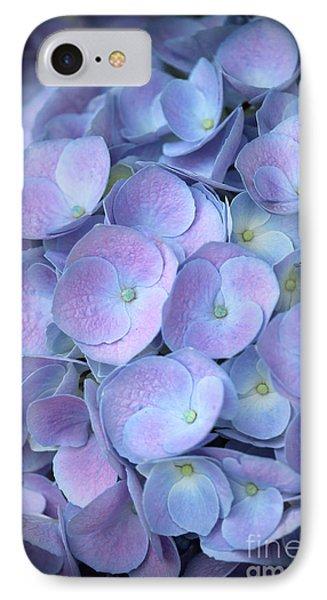 Dreamy Hydrangea In Purple And Blue  IPhone Case by Carol Groenen