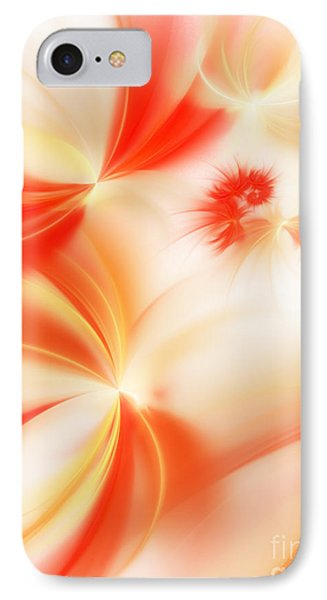 IPhone Case featuring the digital art Dreamy Orange And Creamy Abstract by Andee Design