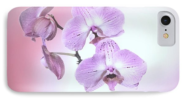 IPhone Case featuring the photograph Dreamy Pink Orchid by Linda Phelps