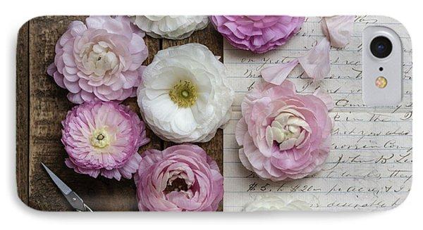 IPhone Case featuring the photograph Dreamy Ranunculus  by Kim Hojnacki